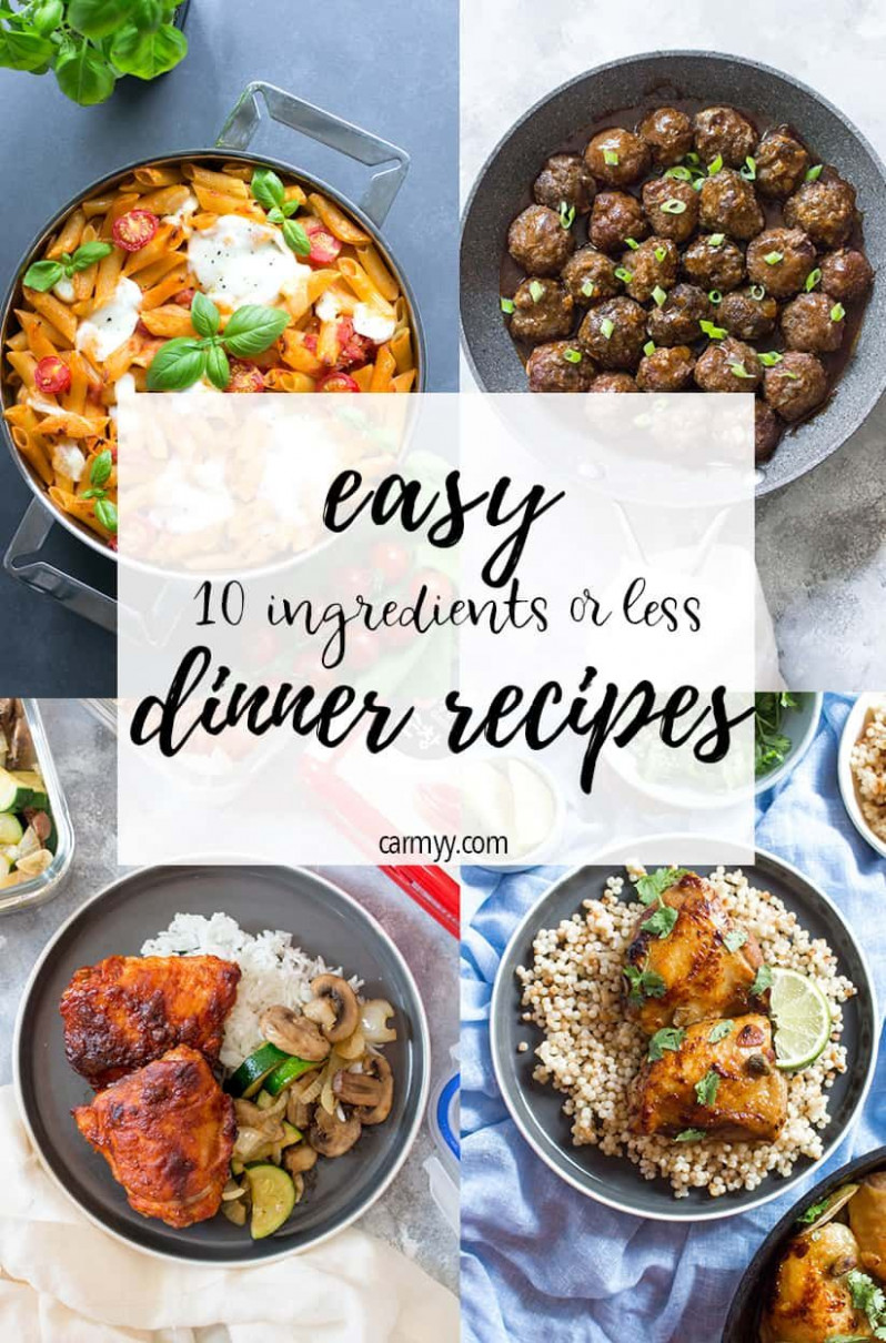 12 Easy Dinner Ideas To Cook Tonight (12 Ingredients Or Less ..
