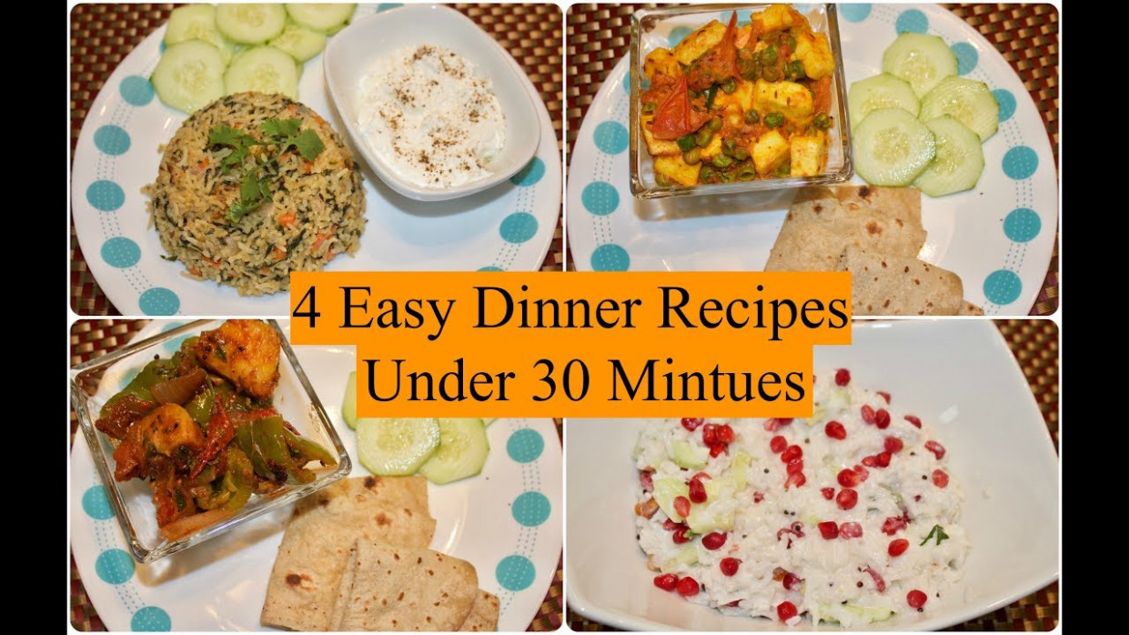 12 Easy Indian Dinner Recipes Under 12 Minutes | 12 Quick Dinner Ideas |  Simple Living Wise Thinking - dinner recipes quick indian