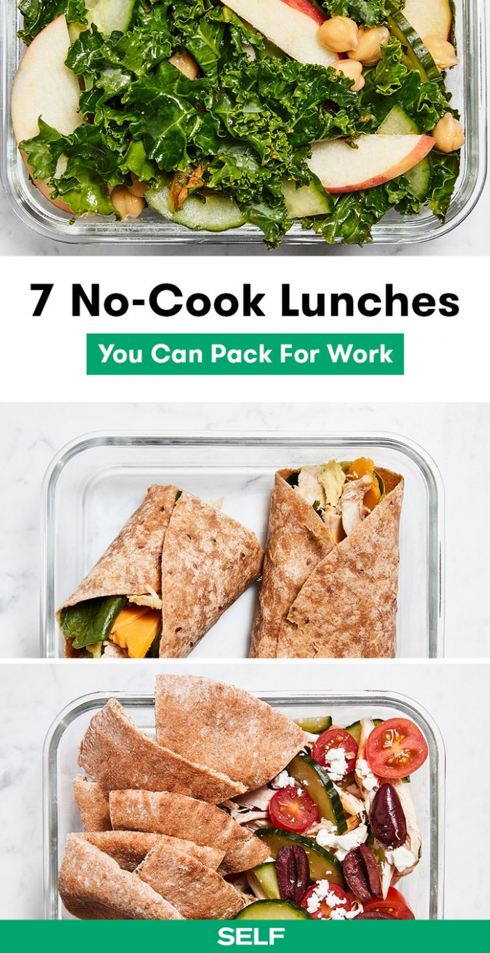 12 Easy No-Cook Lunch Ideas You Can Pack for Work | SELF - recipes to try for dinner