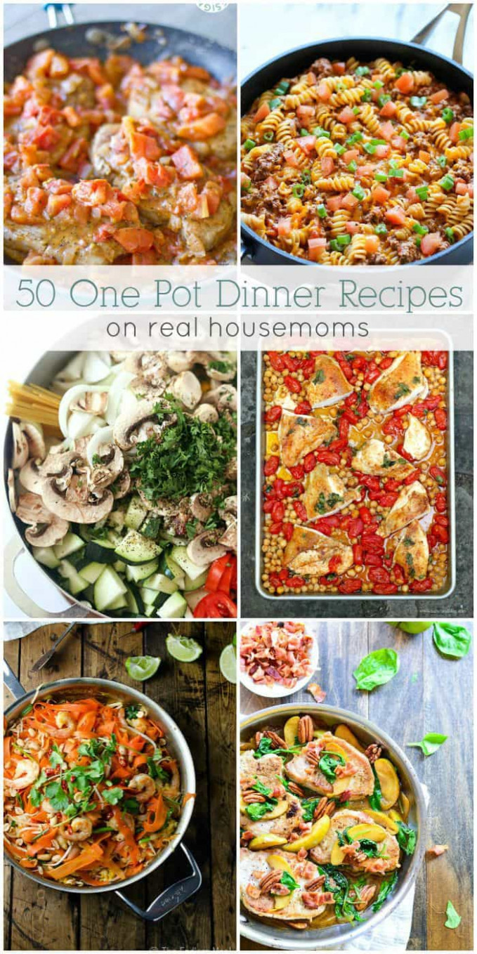 12 Easy One Pot Dinners ⋆ Real Housemoms - Recipes Dinner For One