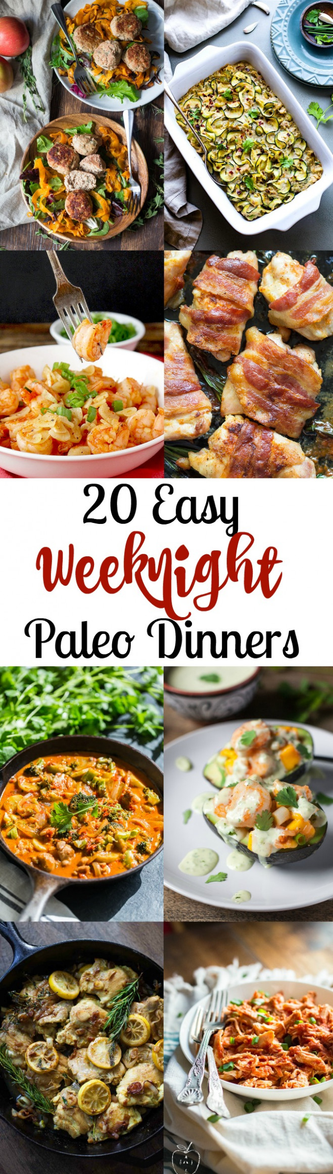12 Easy Paleo Dinners for Weeknights | The Paleo Running Momma - recipes dinner quick