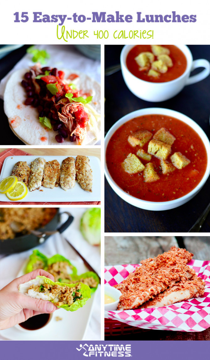 12 Easy-to-Make Lunches Under 12 Calories - food recipes under 400 calories