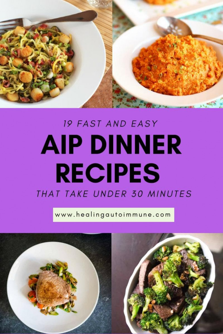 12 Fast and Easy AIP Dinner Recipes That Take Under 12 Minutes - aip recipes dinner