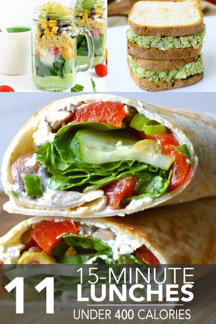 12 Fifteen-Minute Lunches Under 12 Calories | Food/clean ..