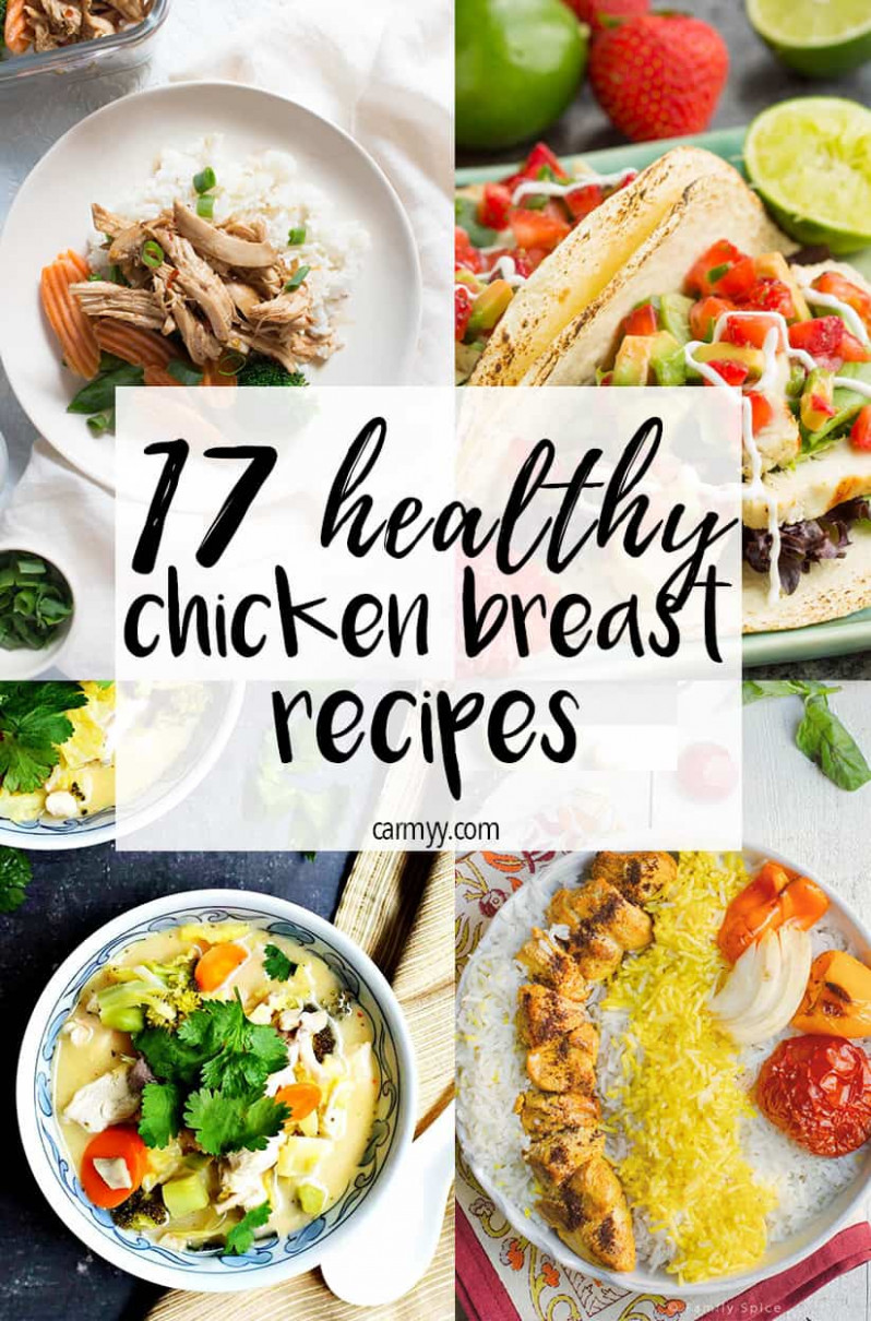 12 Healthy Chicken Breast Recipes - Carmy - Run Eat Travel - chicken recipes that are healthy