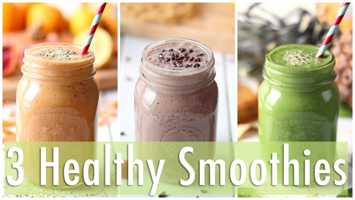12 Healthy Smoothie Recipes | Healthy Breakfast Ideas - healthy recipes youtube
