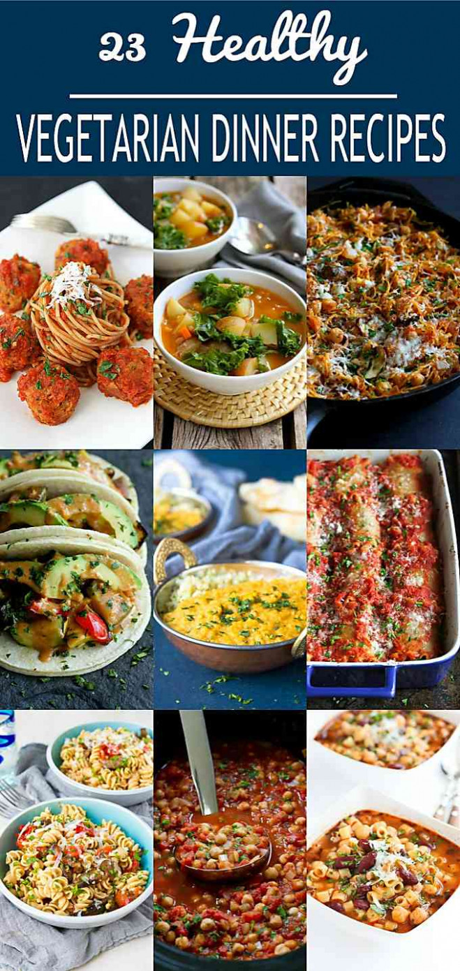 12 Healthy Vegetarian Dinner Recipes - Cookin Canuck - recipes to try for dinner