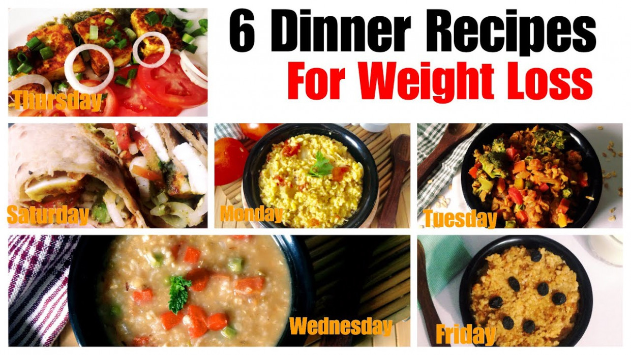 12 Healthy Vegetarian Dinner Recipes for Weight Loss   Indian Dinner With  Barley, Oats Daliya - dinner recipes diet