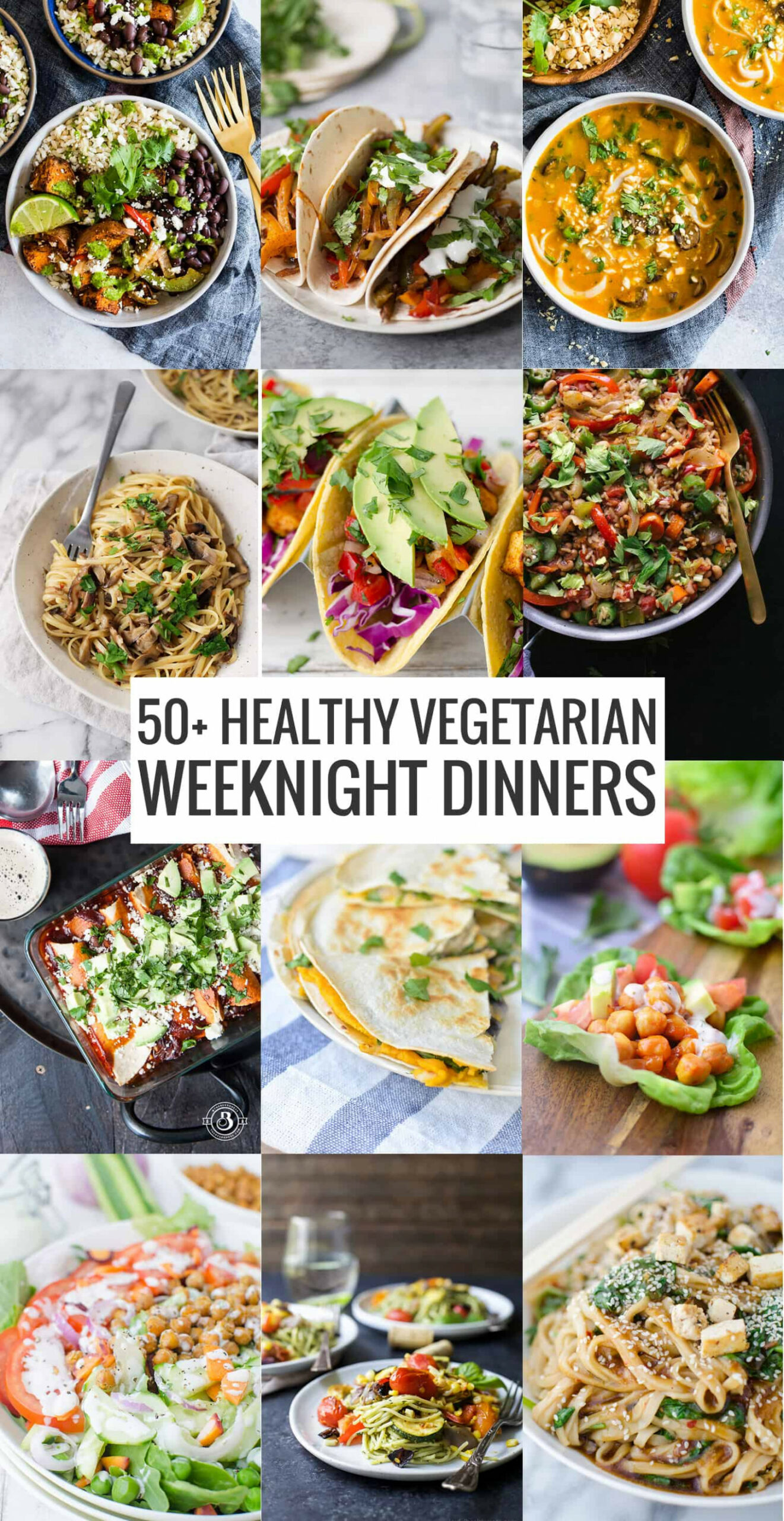 12+ Healthy Vegetarian Meals - Delish Knowledge - recipes dinner healthy
