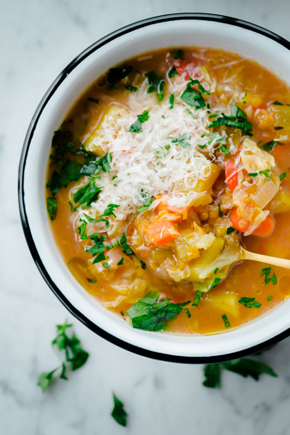 12 Healthy Winter Recipes (that I love!) - A Beautiful Plate - winter soup recipes vegetarian