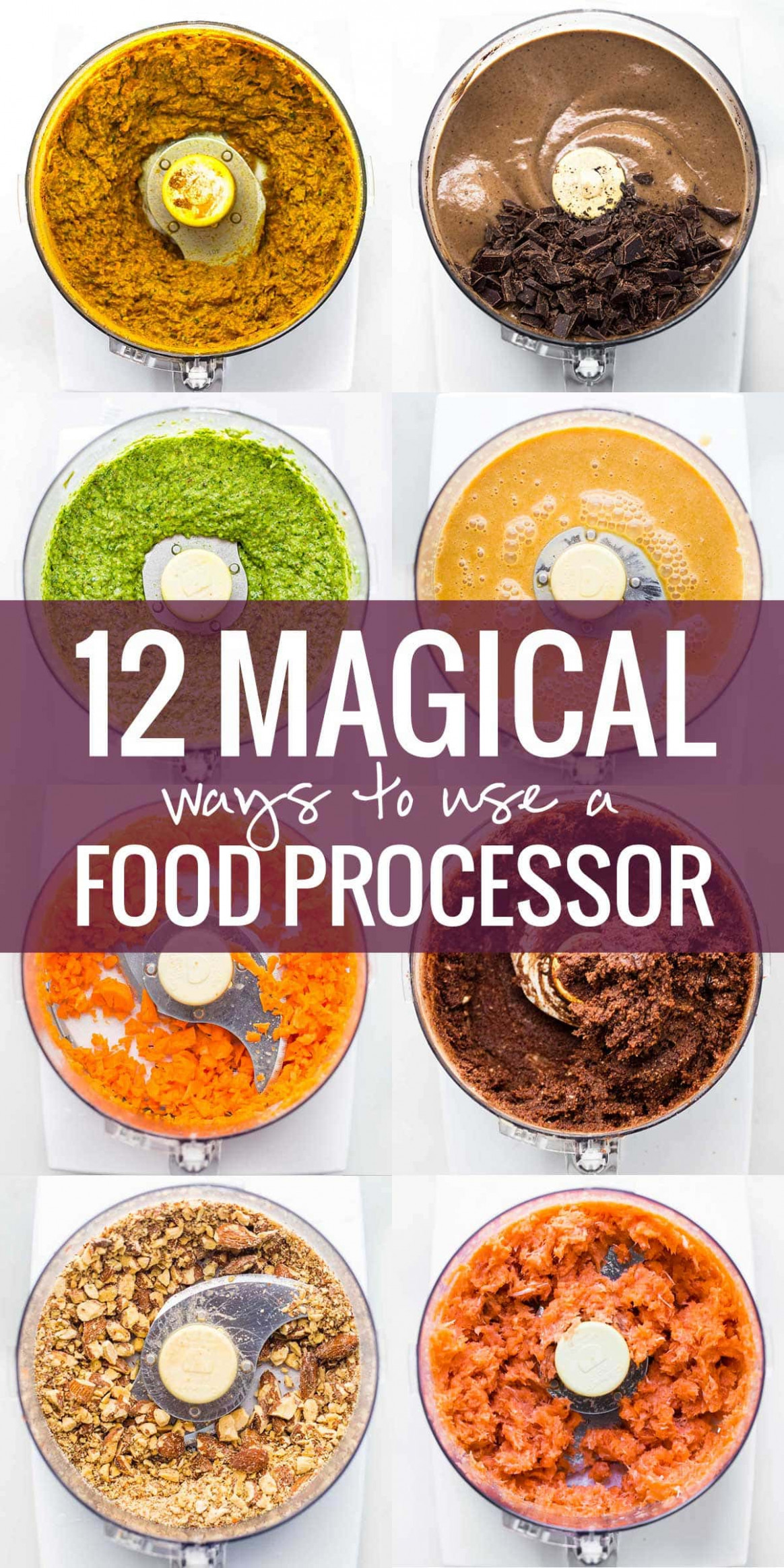 12 Magical Ways To Use A Food Processor - Pinch of Yum - recipes in food processor