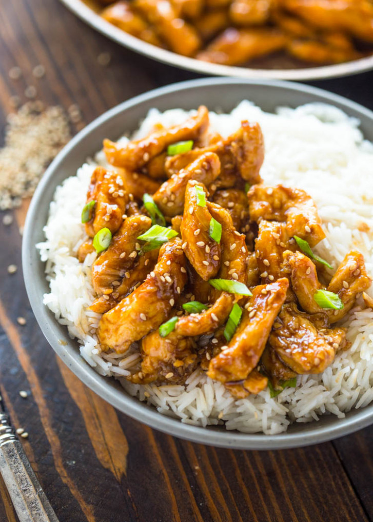 12 Minute Healthy Sesame Chicken - chicken recipes quick and tasty
