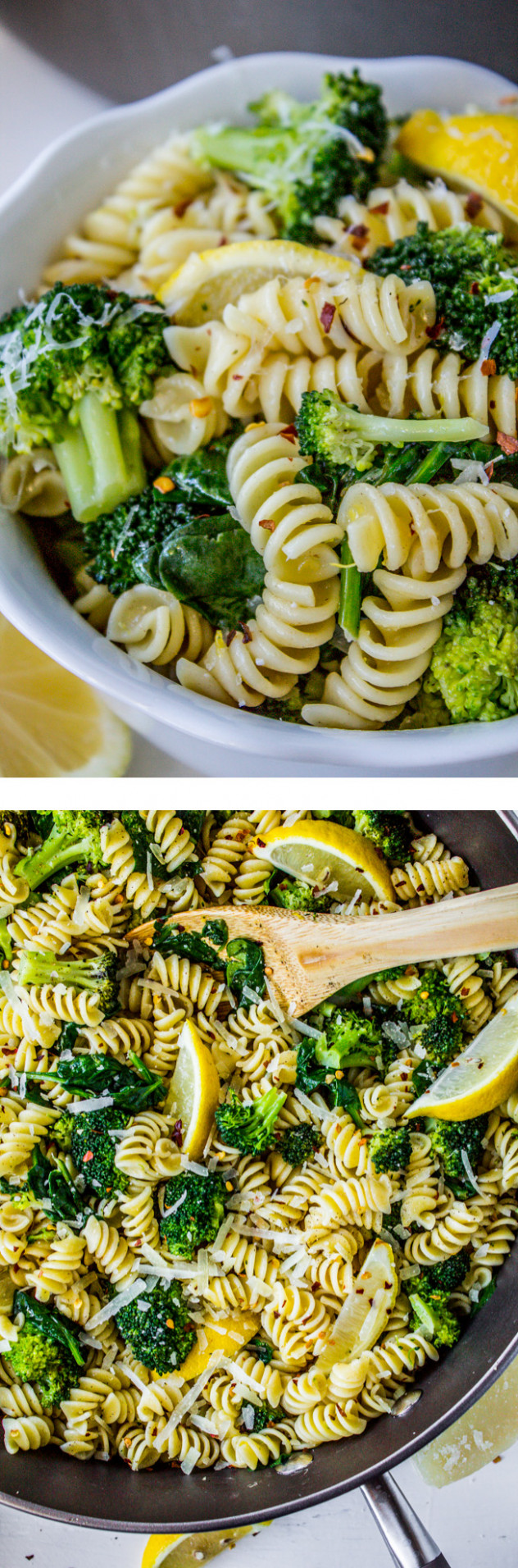 12 Minute Lemon Broccoli Pasta Skillet - healthy pasta recipes vegetarian