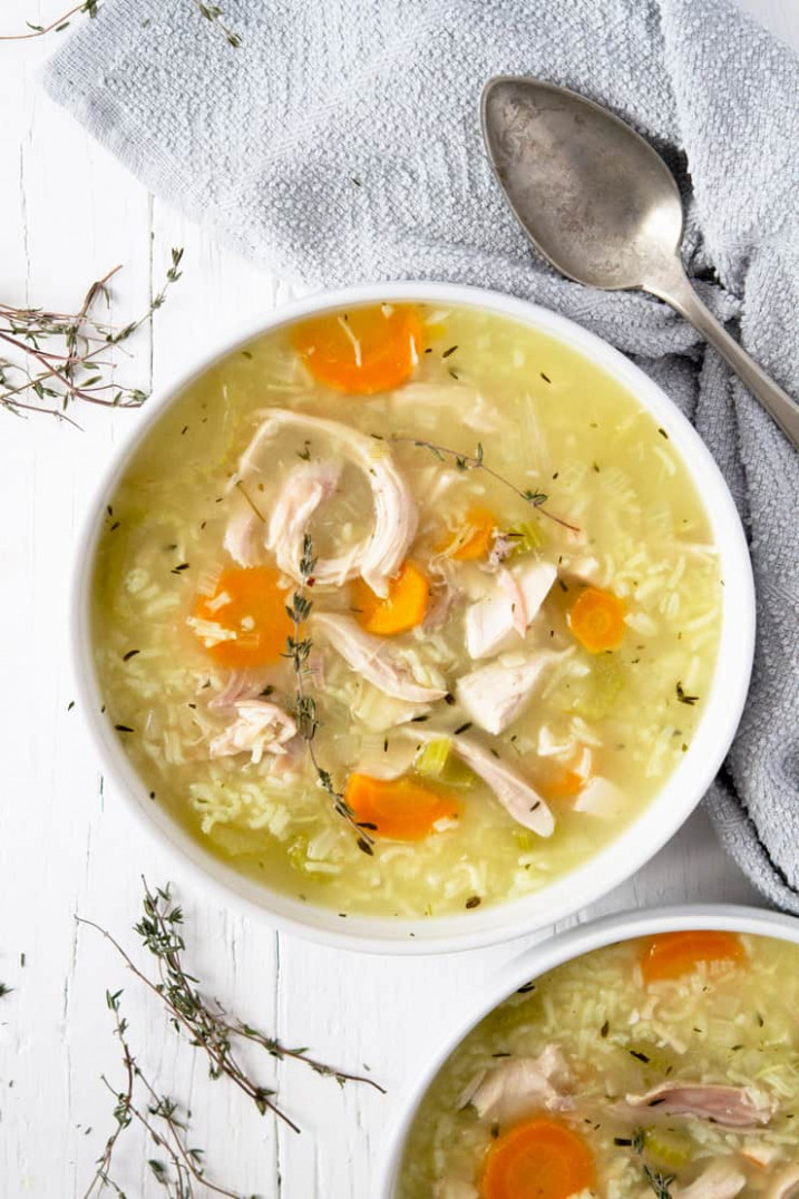 12 Minute Rotisserie Chicken and Rice Soup - recipes using rotisserie chicken