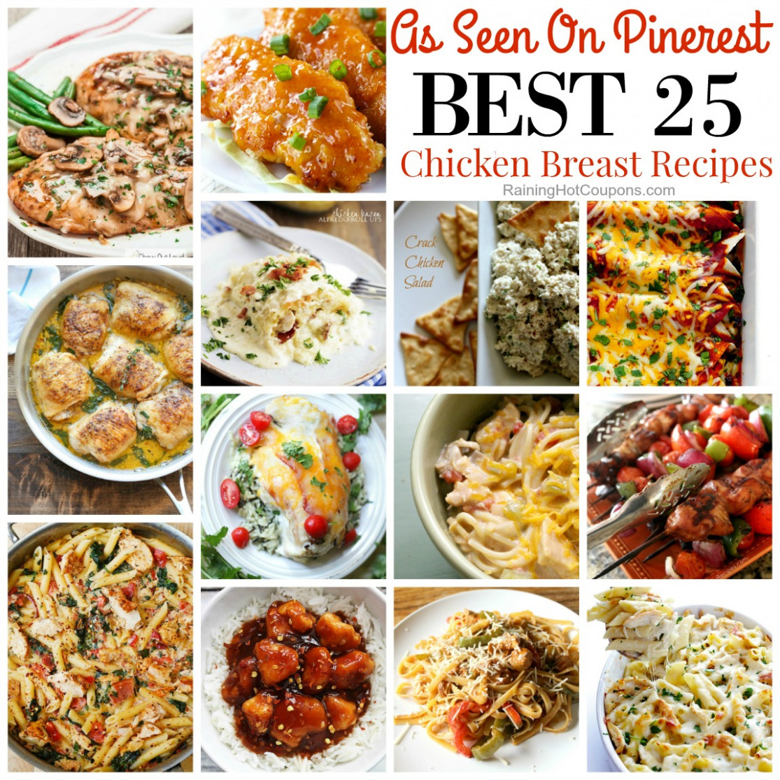12 of the Best Easy Dinner Ideas with Chicken Breasts - dinner recipes chicken breast