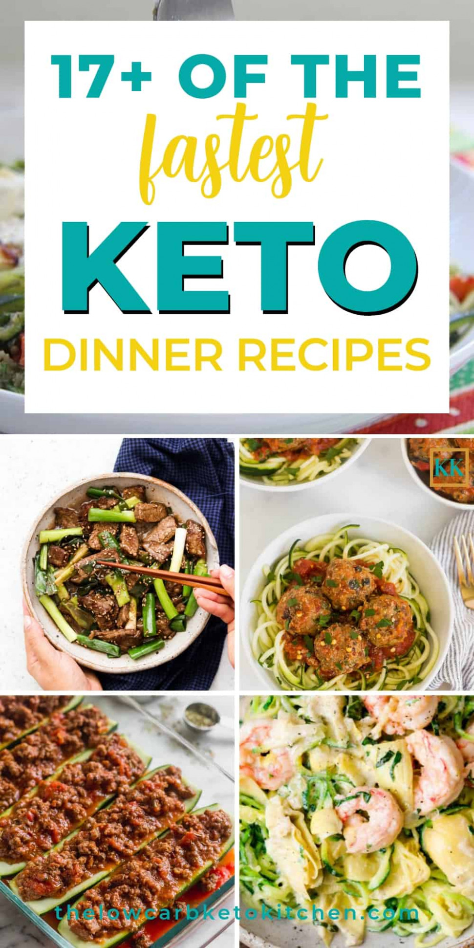 12+ of the Best Fast Keto Dinner Recipes - quick and easy keto dinner recipes
