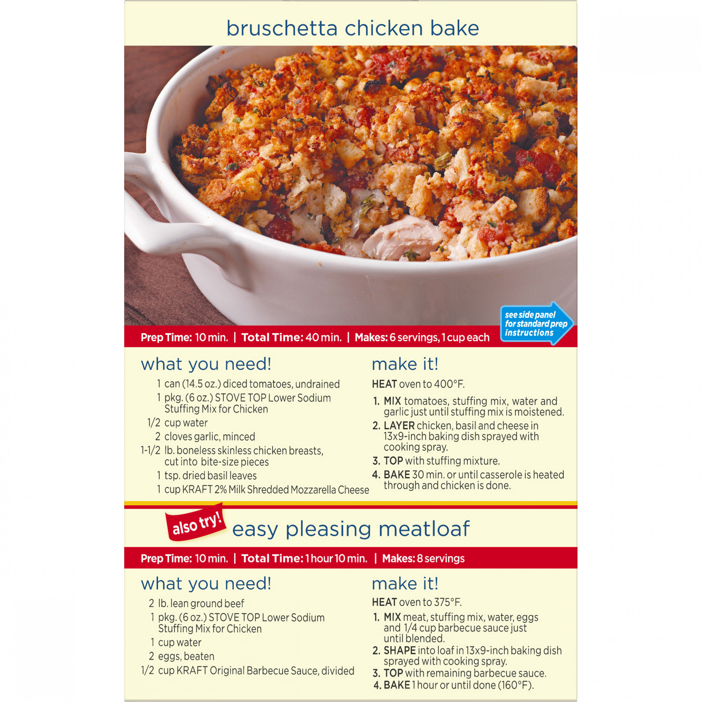(12 Pack) Kraft Stove Top Low-Sodium Chicken Stuffing Mix, 12 oz Box - low sodium recipes chicken