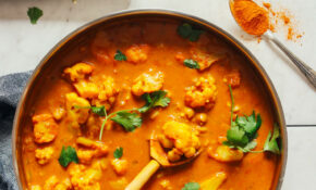 12 Pot Yellow Chickpea Cauliflower Curry – Chickpea Recipes Dinner