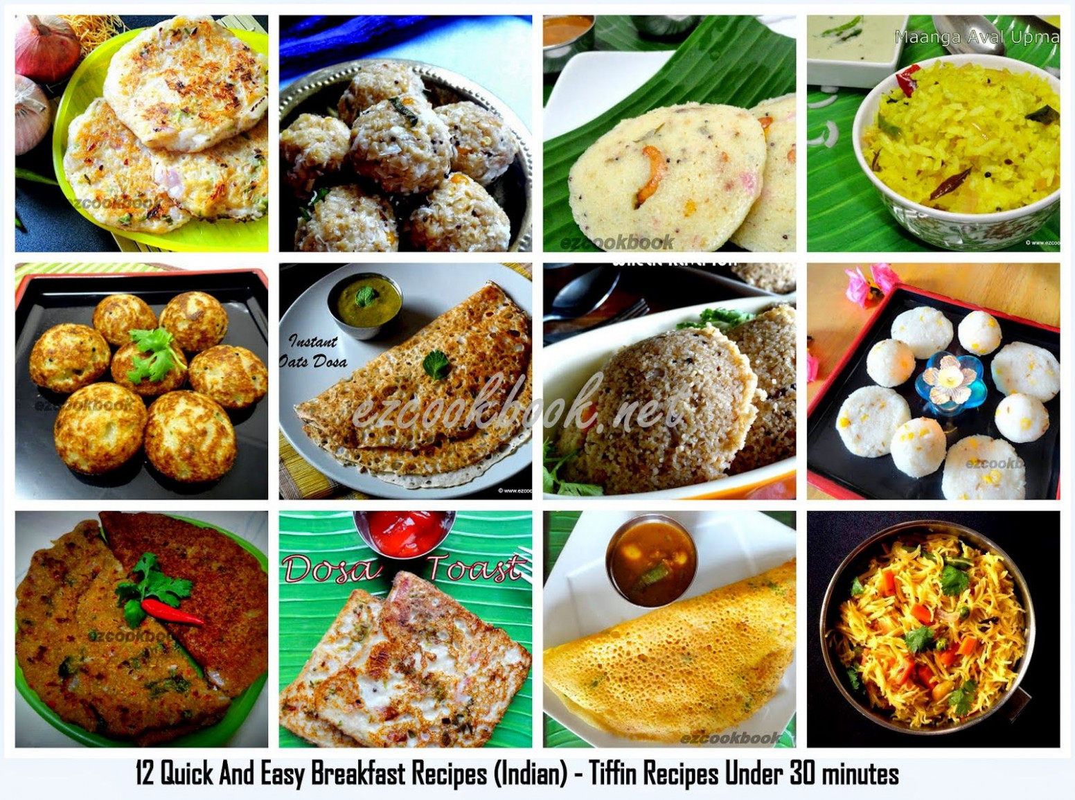 12 Quick And Easy Breakfast Recipes (Indian) | Breakfast ..