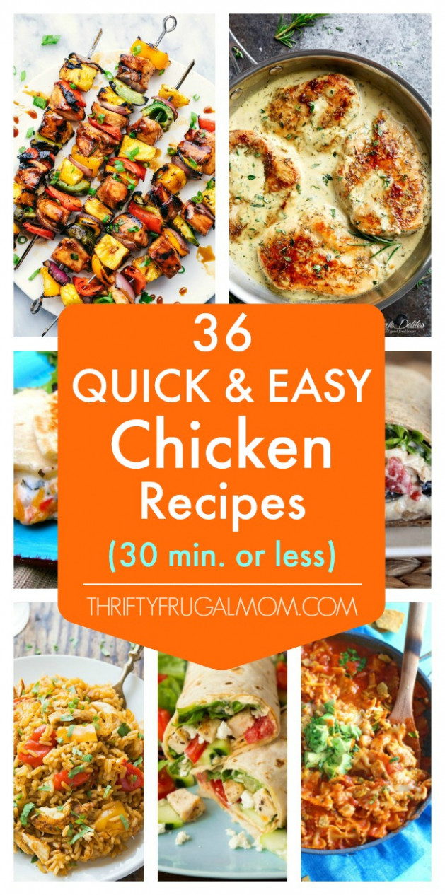 12 Quick and Easy Chicken Recipes- all 12 minutes or less - chicken recipes quick dinner