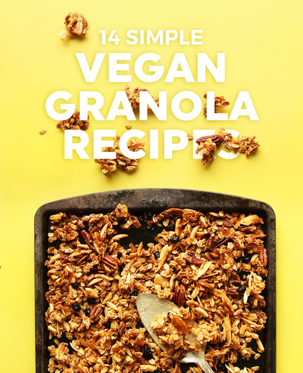 12 Simple Vegan Granola Recipes | Minimalist Baker - recipes simple vegetarian