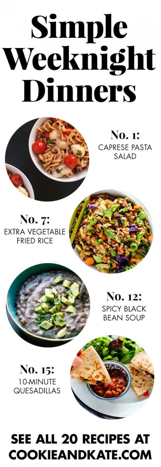 12 Simple Vegetarian Dinner Recipes - Cookie and Kate - easy recipes dinner