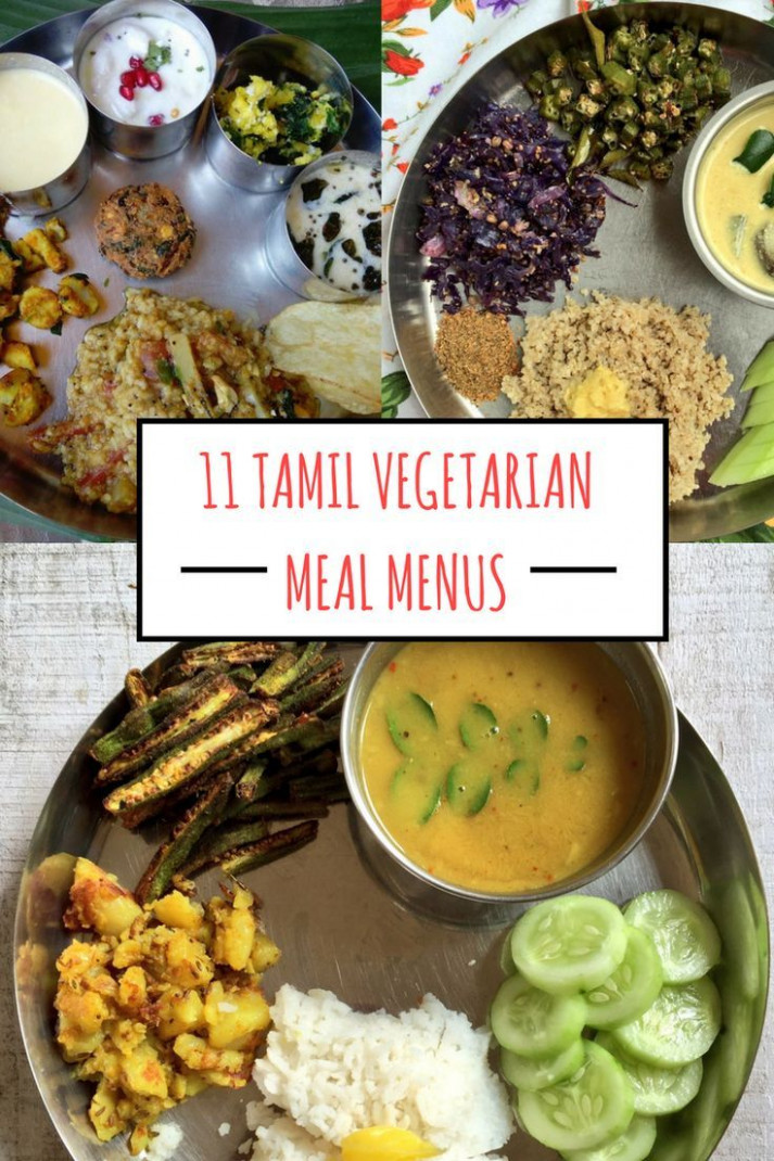 12 Traditional Tamil Vegetarian Lunch Menus | Vegetarian ..