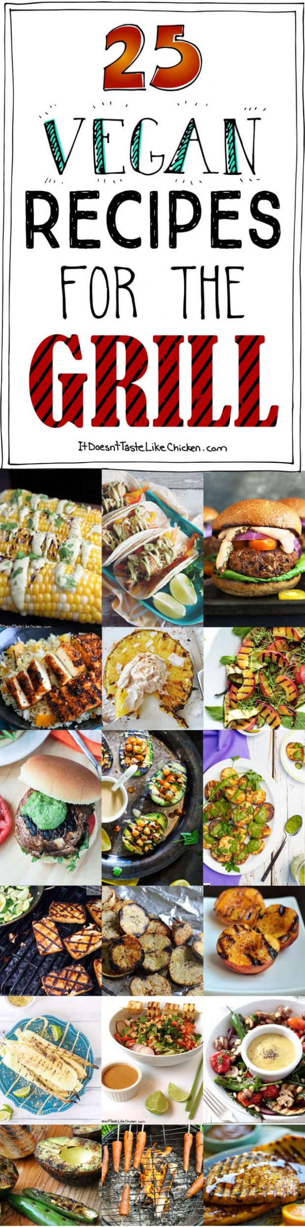 12 Vegan Recipes For The Grill • It Doesn't Taste Like Chicken - Recipes Vegetarian Bbq