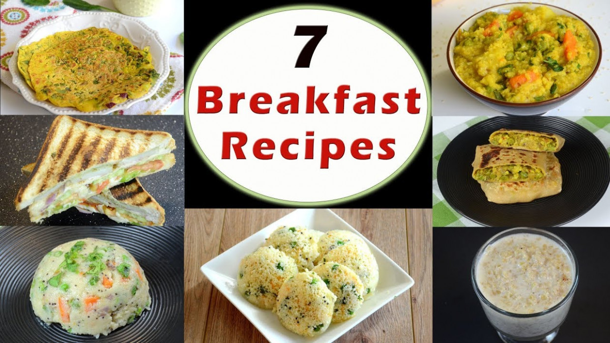 122 Breakfast Recipes - Part 12 | Indian Breakfast Recipes | Healthy And Quick  Breakfast Recipes - Healthy Recipes Of India