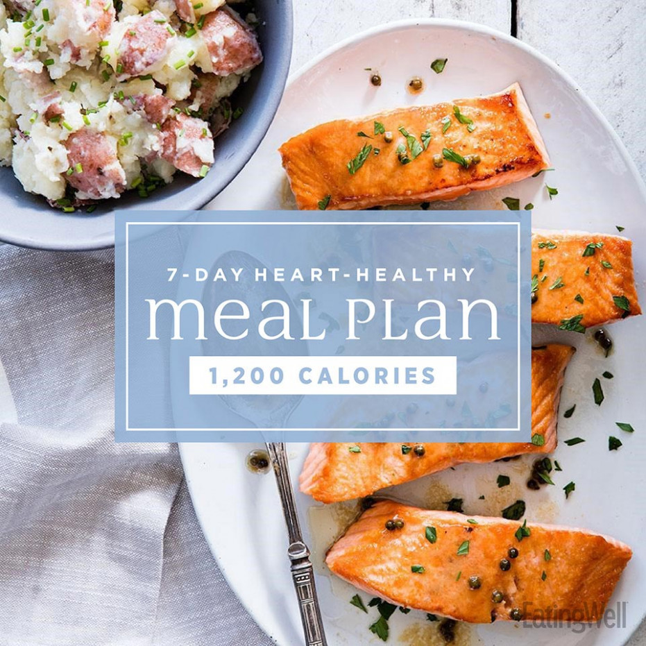 122-Day Heart-Healthy Meal Plan: 12,12 Calories | EatingWell - recipes heart healthy
