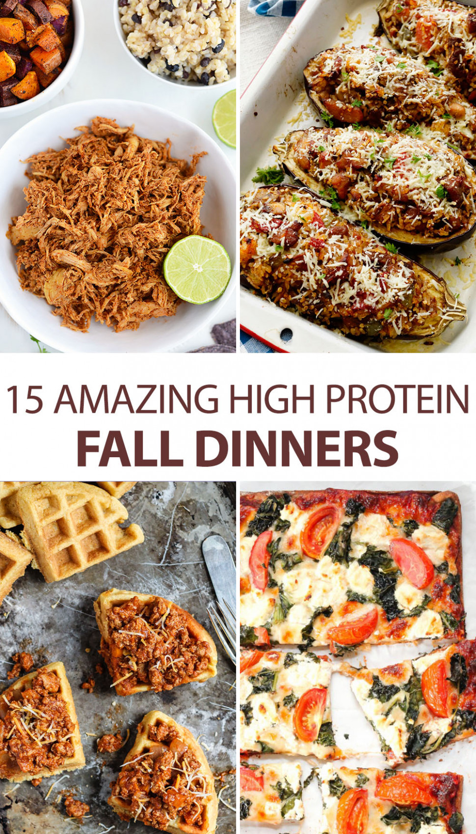 13 Amazing High Protein Fall Dinners - dinner recipes high in protein