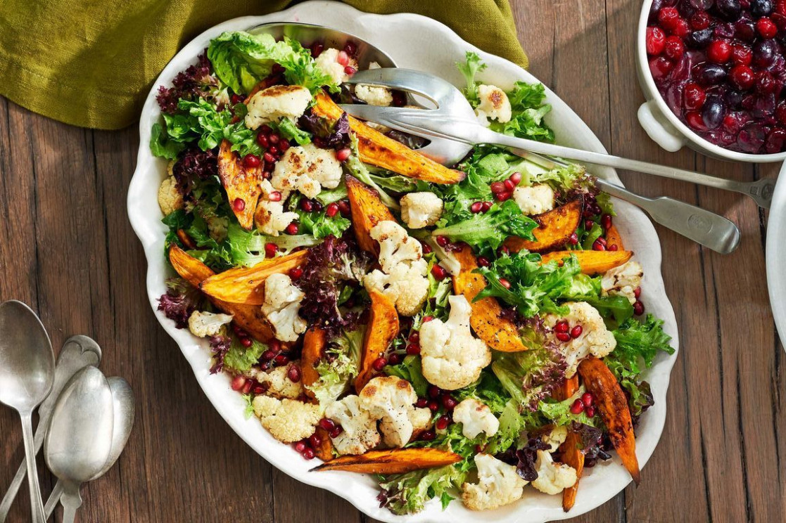 13 Best Christmas Salad Recipes - Easy Holiday Salad Ideas - recipes vegetarian christmas main course