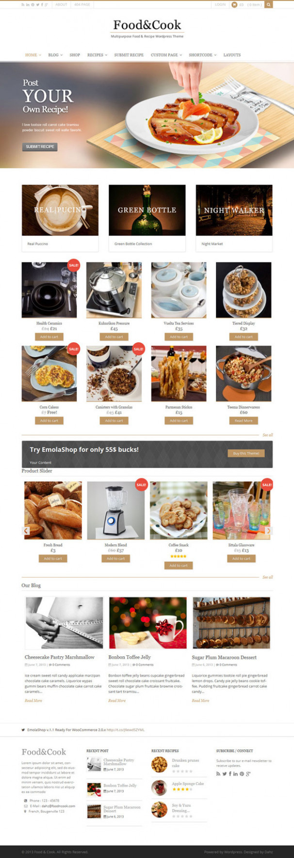13 Best Food WordPress Themes for Blogs & eStores 13 - food recipes wordpress theme