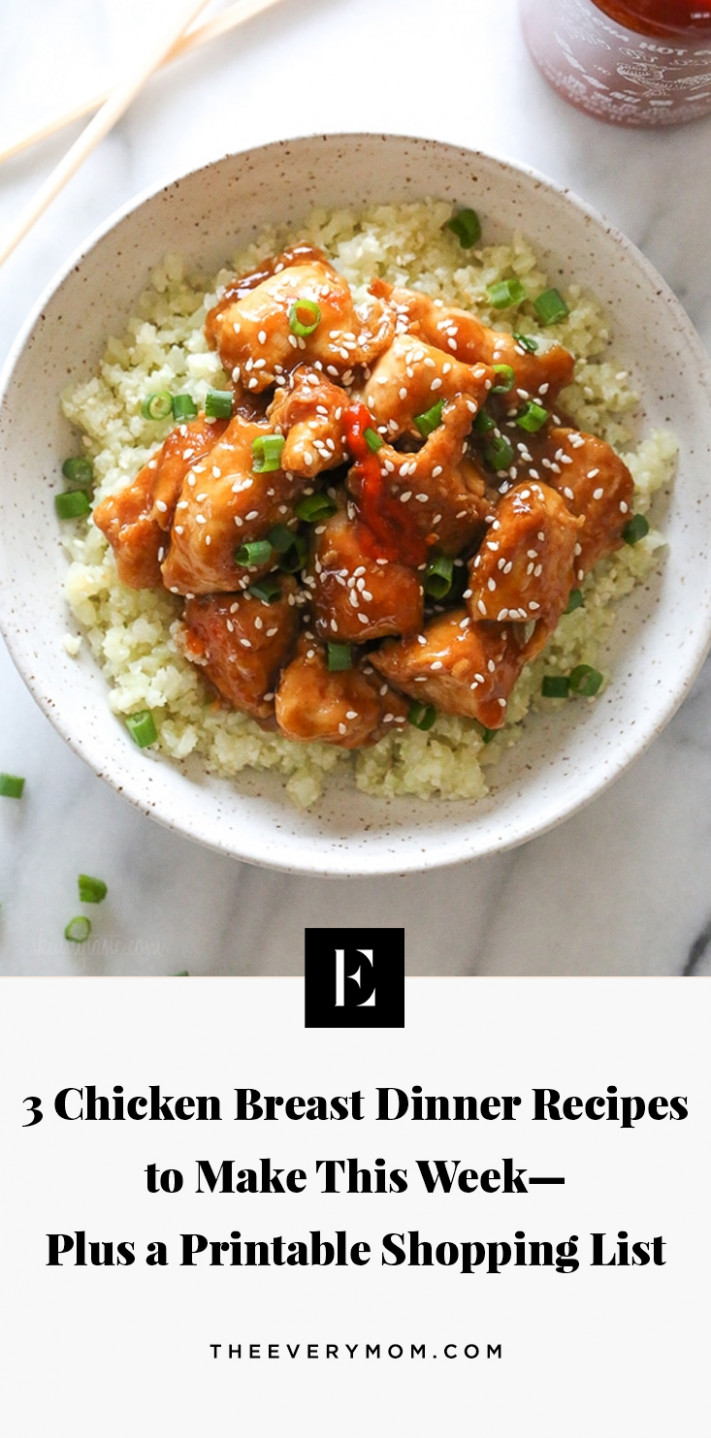 13 Chicken Breast Dinner Recipes to Make This Week | The Everymom - recipes list for dinner