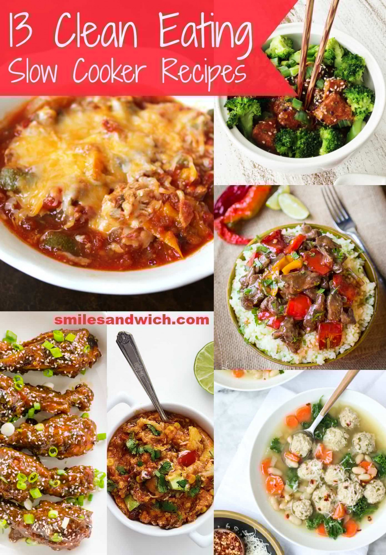 13 Clean Eating Slow Cooker Recipes - Smile Sandwich - clean food recipes
