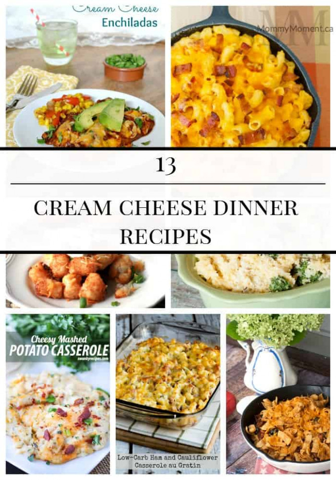 13 CREAM CHEESE DINNER RECIPES - Mommy Moment - recipes using cream cheese dinner
