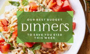 13-Day Meal Plan: Our Best Budget Dinners to Save You $13 ...