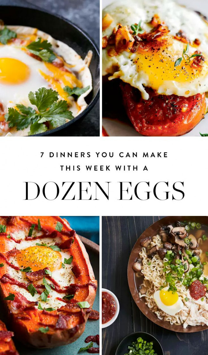 13 Dinners You Can Make This Week With A Dozen Eggs | Egg ..
