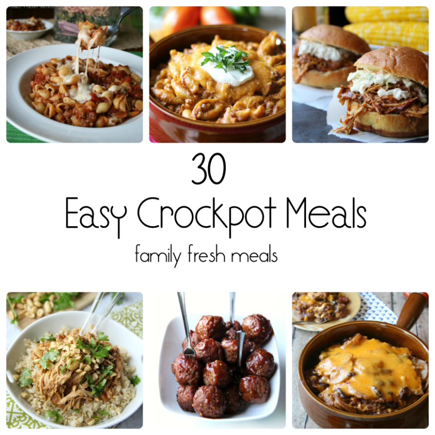 13 Easy Crockpot Recipes - Family Fresh Meals - easy dinner recipes that are kid friendly