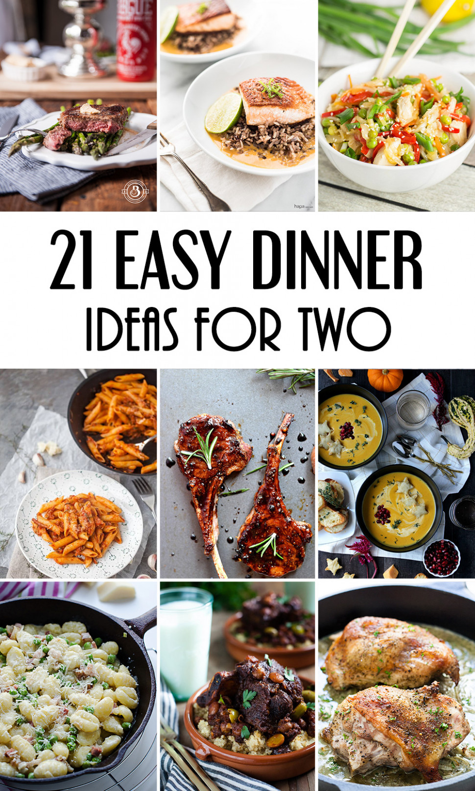 13 Easy Dinner Ideas For Two That Will Impress Your Loved One - recipes easy food