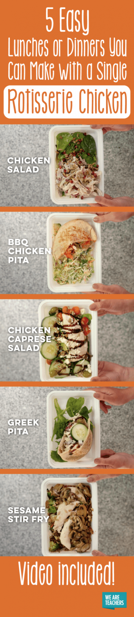 13 Easy Rotisserie Chicken Recipes for a Healthy Lunch at Work
