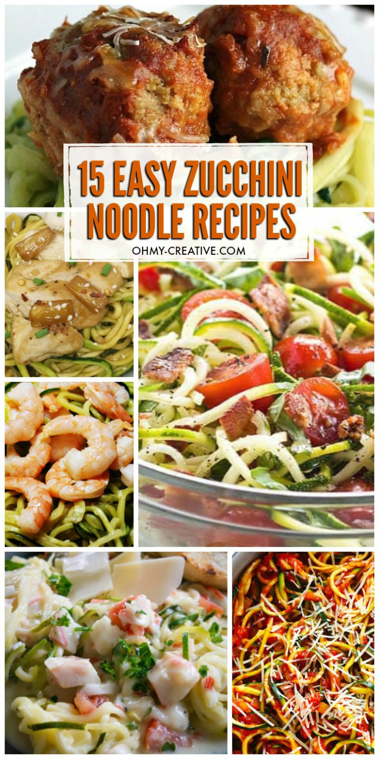 13 Easy Spiralized Zucchini Recipes (Zoodle Recipes) - Oh My ..