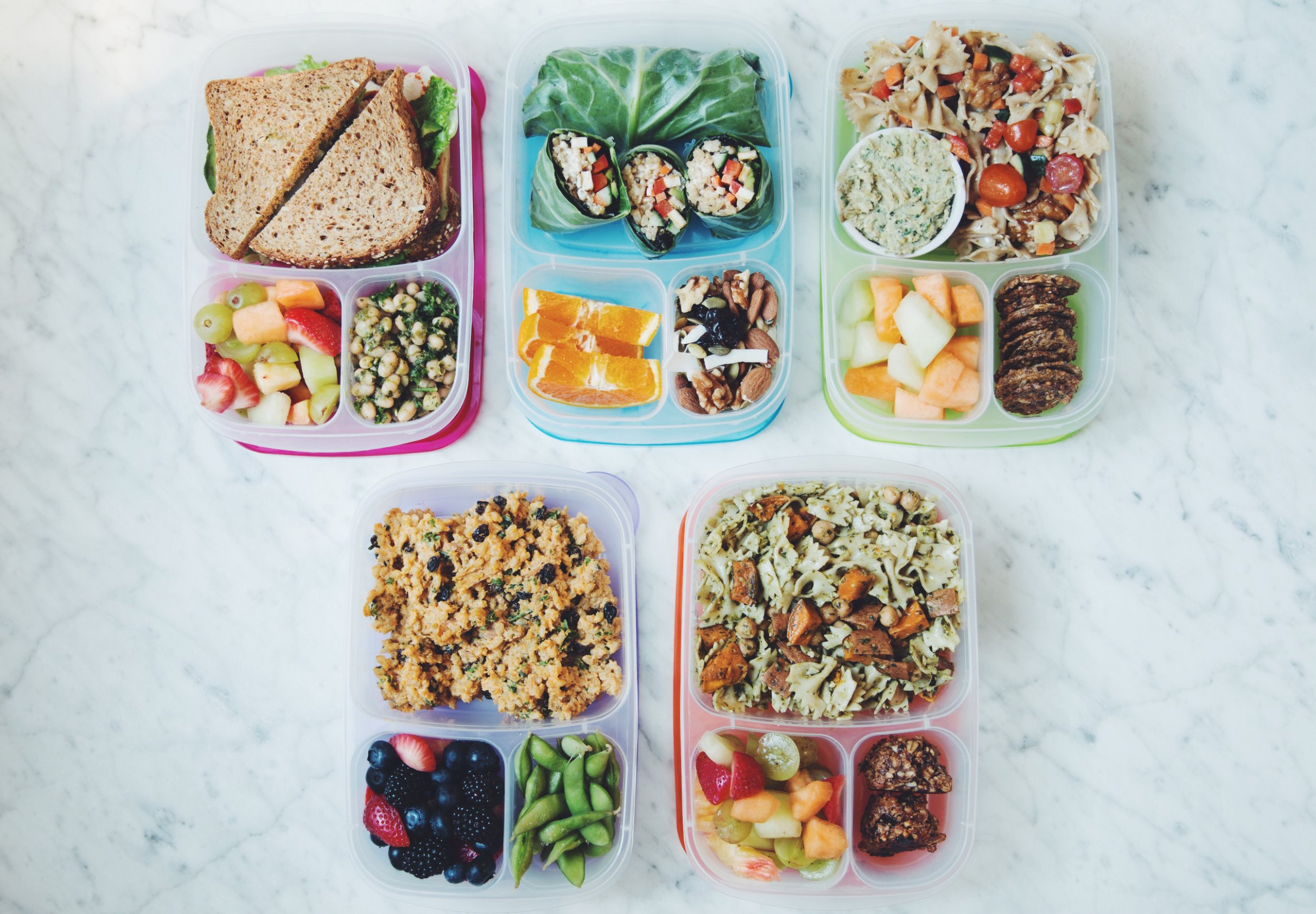 13 easy vegan back to school bento boxes | hot for food - vegetarian japanese bento box recipes