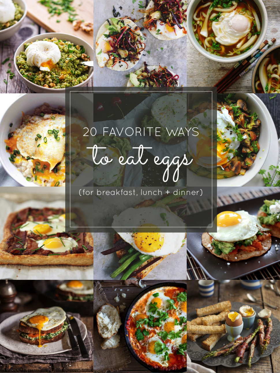 13 Favorite Egg Recipes (for Breakfast, Lunch and Dinner ..