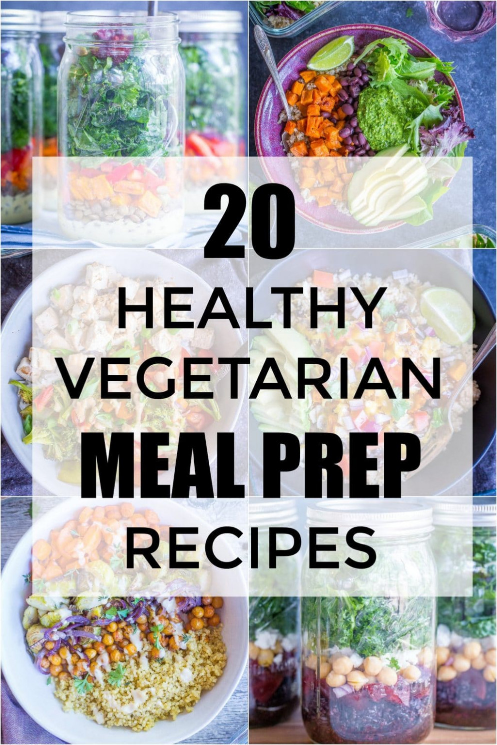 13 Healthy Vegetarian Meal Prep Recipes - She Likes Food - recipes vegetarian healthy