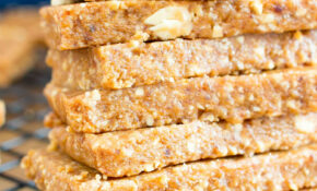 13 Ingredient No Bake Peanut Butter Cookie Energy Bars (Vegan ..