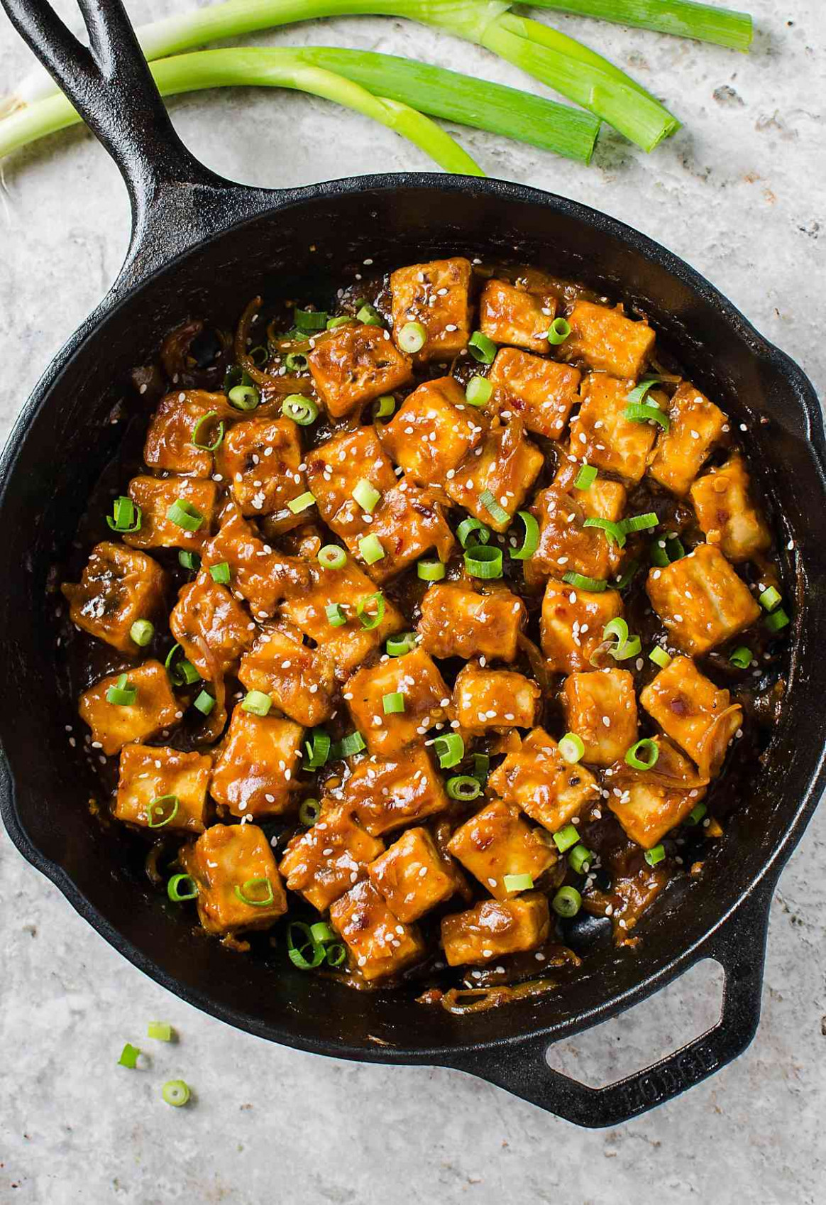 13 min Healthy Asian chili garlic tofu stir-fry (One Pan ..
