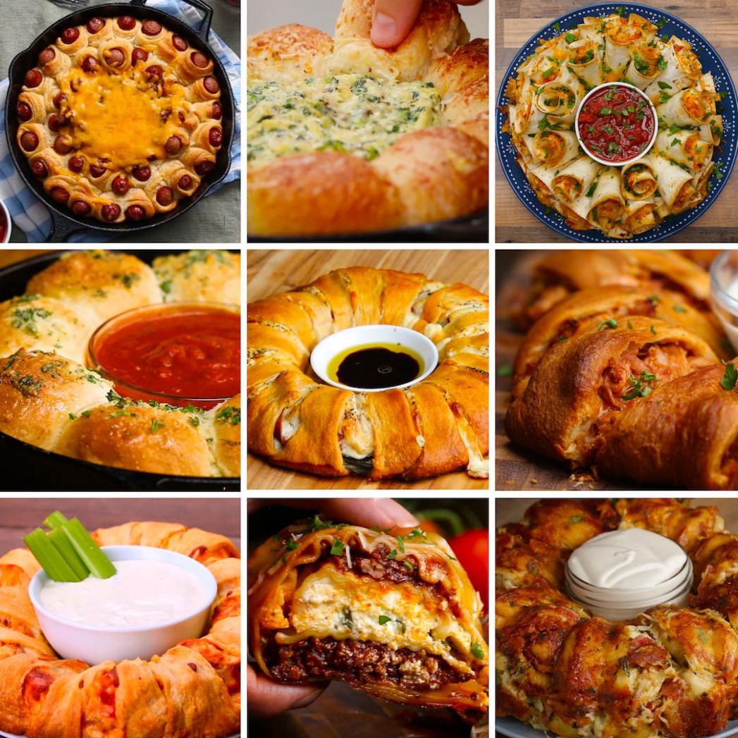 13 Mind Blowing Party Food Rings | Recipes - Easy Finger Food Recipes To Make Ahead
