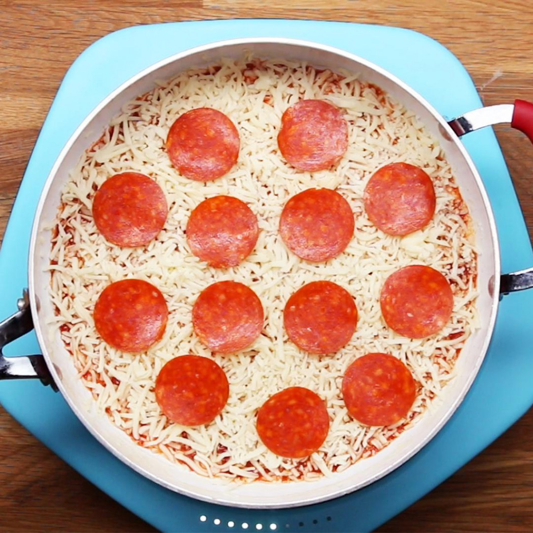 13-Minute One-Pan Pizza Recipe by Tasty - food recipes pizza