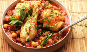 13 Minute Pressure Cooker Chicken With Chickpeas, Tomatoes, And Chorizo  Recipe – Recipes Electric Pressure Cooker Chicken
